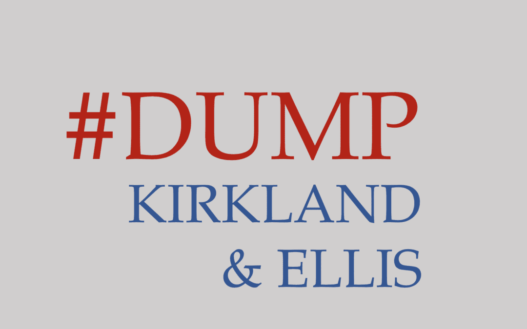 Harvard Law students have used images such as these to call out large law firms, such as Kirkland & Ellis, for using coercive contracts as a condition of employment. Credit: Pipeline Parity Project
