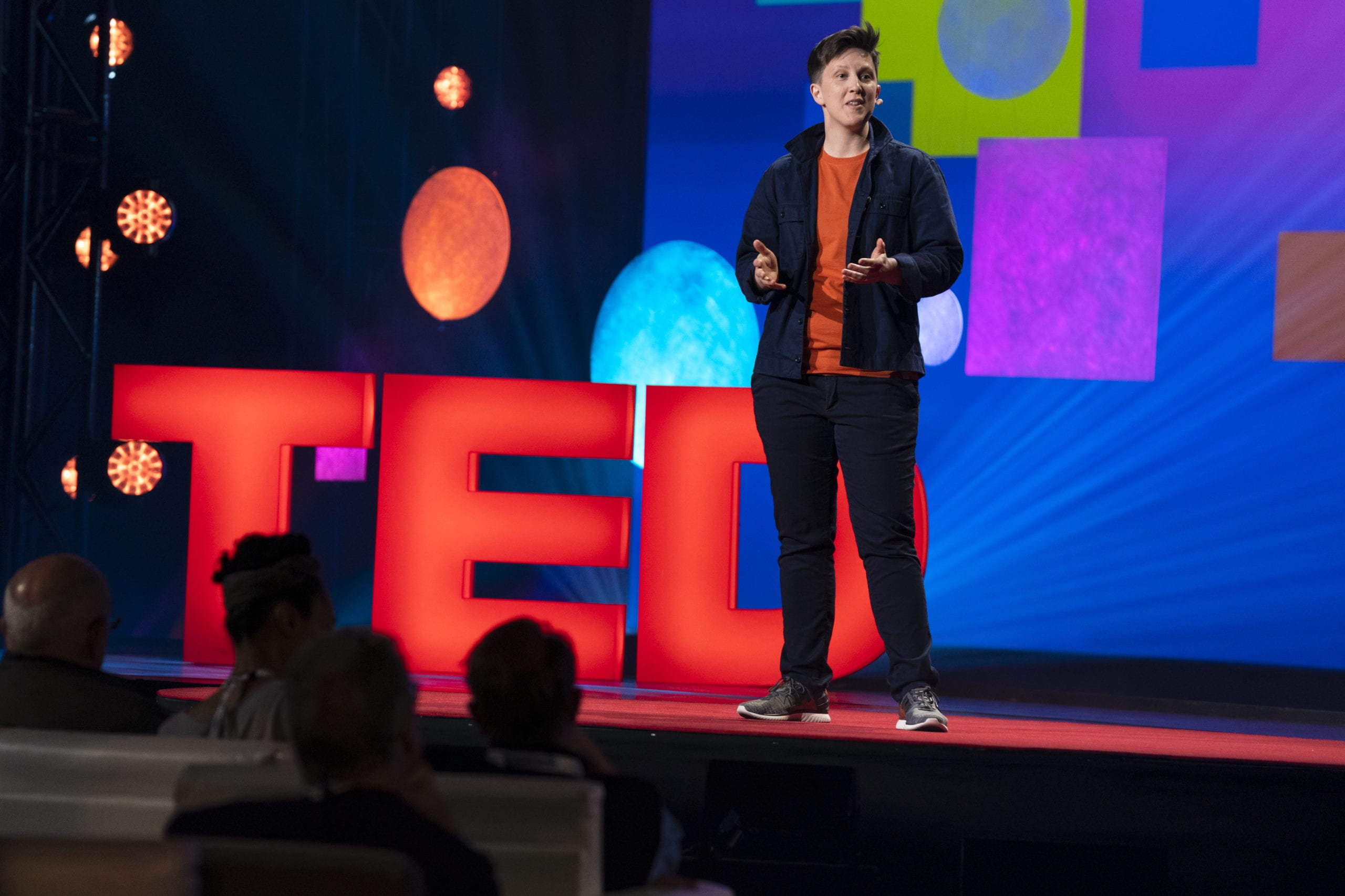 Jess Kutch speaks during Fellows Session at TED2019: Bigger Than Us. April 15 - 19, 2019, Vancouver, BC, Canada. Photo: Dian Lofton / TED